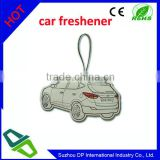 custom logo printed promotional hanging car shaped car's air freshener with full color printing