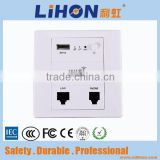 Wireless ap 300mbps Mini Hotel In Wall AP Wifi Indoor High Power1 LAN Port 1 USB Charger 48V POE WDS Gateway/AP/Repeater