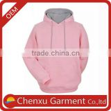 pink women trendy hoody sweatshirts stylish women two tone hoodie plus size fitness hoodie stringer