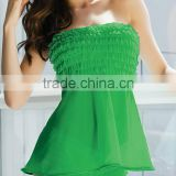 sexy women's sleepwear fabric transparent dress sleepwear dress with thong