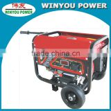 2kw AC single phase 220v 50hz gas generator with electric start motor by real manufacture
