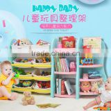 Kids plastic bookshelf children toy storage shelf bedroom funiture