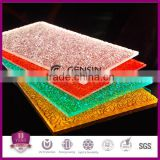 Polycarbonate Particle Solid Sheets Textured Embossed Surface Impact Resistance 100% Virgin GE PC Resin UV Coating Layer