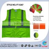 road sign equipment high visibility safety vests bullet proof vests FT-5267 orange yellow other colour