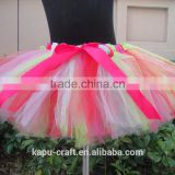 Wholesale boutique baby handmade tutu skirt, ballet tutu professional red princess tutu skirt for children