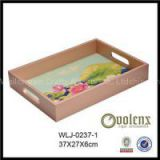 Brown Color Custom Wooden Tray
