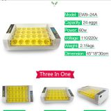 Nanchang Howard full automatic mini 24 eggs incubator with two fans