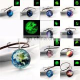 Christmas Time Gem Moon Starry Star Necklace Dust Cosmic Glass Pendant Glow In The Dark Necklace
