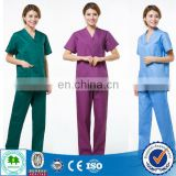 China OEM Print scrub top/Top scrub suits/Printed medical scrub tops for hospital staff uniforms