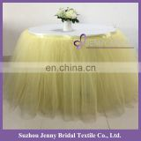 TS091#7 yellow tulle hawaiian table skirt images tutu table skirt