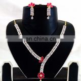Indian Bridal American Diamond jewellery-Wholesale gold Plated CZ Necklace set-Party wear CZ Jewelry-Cubic Zirconia Necklace set