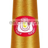 Quality Fluroescent gold metallic yarn for Fabric