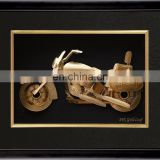 Model Motorcycle Gold Picture Frames Christmas Gifts Antique Gold Leaf Frame Wall Mirror