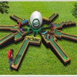 Giant commercial inflatable mini golf inflatable putt putt for sale