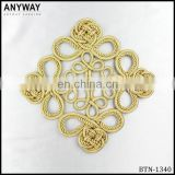 Chinese style golden cord thread button for classical coats for sale