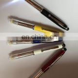 flash light ball point pen promotion metal ball pen screen touch pen stylus pen