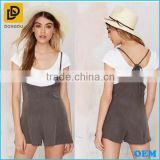 Fashion Slim Strap Skirt/Sexy Sleeveless Pocket Jumpsuit Dress Rompers For Women Ladies Girls