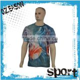 oem men short sleeve t-shirt best quality breathable polyester sublimation 3d printing t-shirt