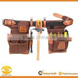 high quality suede leather carpenter tool belt,OEM leather tool apron belt,brown leather eletrnician hand tooled leather belt                                                                         Quality Choice