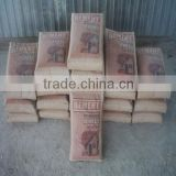 China supplier 2014 new brand brown kraft paper bag for packing cattle feed cement 50kg/25kg
