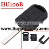 2 button remote key shell with HU100b blade for Vauxhall Opel Corsa Agila Meriva Combo
