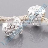 Vnisatr silver platd cute strawberry shaped european beads for DIY jewelry wholesale PBD2951