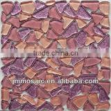 Glitter big size Cobble glass mosaic tile Pebble glass mosaic tile