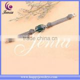 Fashion jewelry bracelet thai silver green agate bracelet 0659S4