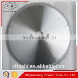 Aluminum profile cutting carbide tipped circular saw blade with no burrs