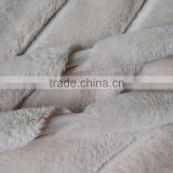 solid faux fur pv plush sofa cover/pillow fabric