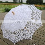 Handmade Cotton Parasol Lace Umbrella Hand Fan Party Wedding Bridal Decoration                                                                         Quality Choice