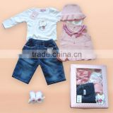 new style Angel cat baby gift set sweater Angel cat baby clothes(Angel cat sugar authorized production)