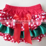 Wholesale Cotton/Stain Christmas Bloomers for kids Ruffle Bloomers For Baby