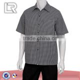 Chef Uniform Black and White Check Shirt