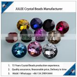 2015 hot sale pujiang crystal beads supplier Metal Coat crystal Button