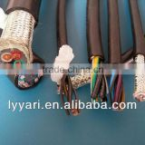 XLPE insulated PVC sheath Copper conductor woven screened multi core flexible control power cable