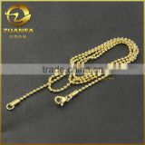 wholesale good quality 18k gold plating stainless steel beads chain