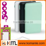 Slim battery power bank with usb cable cell phone lipo battery charger power bank 6800 mah for iphone,htc,huawei ,tablet