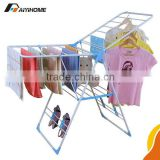 Butterfly shape practical cloth airer,China supplier balcony laundry drying,Steel pipe folding hanging clothes rack