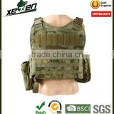 Camo military bulletproof vest military vest with armor plate