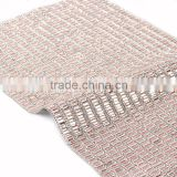High Quality flower shape plastic rhinestone mesh trimming sewing mesh trim 10yard/ roll garment bag shoes