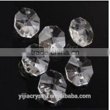 Machine cut clear 14mm Octagon crystal beads two holes for chandeliers decoration gift                                                                         Quality Choice