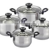 555 stainless steel stock pot and double sided frying pan set