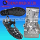 latest colorful jelly shoe woman beach sandal molding