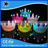 Birthday party LED light up crown hat