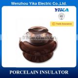 Wenzhou Yika 56-3 ANSI Brown Electrical Porcelain Insulator Pin 33KV Porcelain c/w Spindle