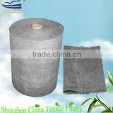 Activated carbon meltblown non-woven fabrics air filter media