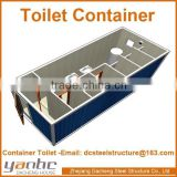 Prefabricated Modular Mobile Sanitary Container with Bathroom Toilet Shower for Public Usage