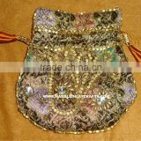 Excellent Zari Embroidery Coin, Potli, Small, Pouch Bags