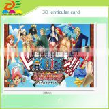 new selling amination 3d lenticular lamination hologram card